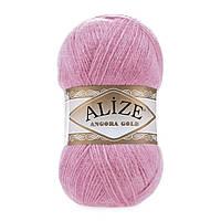 Пряжа Alize Angora gold 39 розовый леденец (Ангора голд)