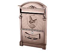 Поштова скринька Vita колір коричневий Герб Голуб
