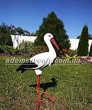 Садовая фигура Аист средний на металлических лапах, фото 3