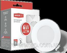 Точечный светильник Maxus 6W теплый свет (1-SDL-003-01)