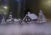 Как украсить окна с помощью искусственного снега