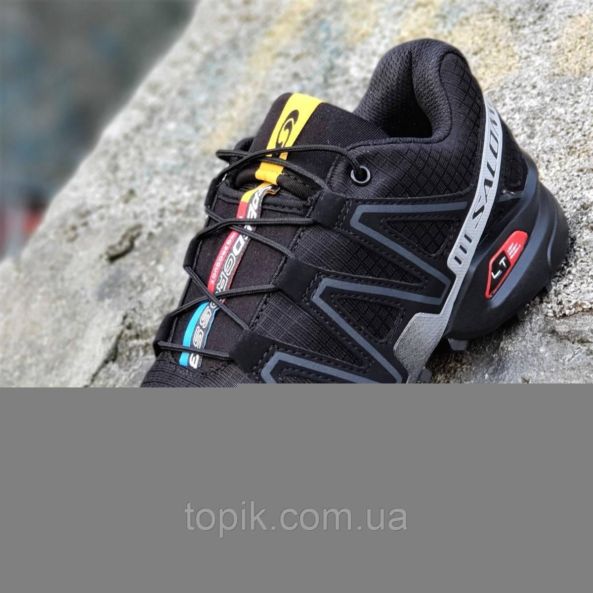 Кроссовки спортивные реплика мужские черные легкие для бега эластичная подошва (Код: 1276)
