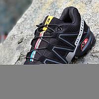 Кроссовки спортивные реплика мужские черные легкие для бега эластичная подошва (Код: 1276), фото 1