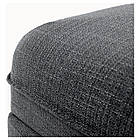Пуф с ящиком IKEA VALLENTUNA Hillared темно-серый 091.498.84, фото 3