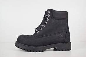Зимние женские ботинки Timberland Classic Boots, натуральный нубук, внутри — шерсть