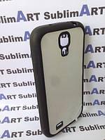 Чехол для 2D сублимации резиновый (TPU) на Samsung Galaxy S4 mini черный