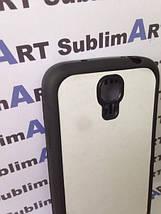 Чехол для 2D сублимации резиновый (TPU) на Samsung Galaxy S4 mini черный, фото 2