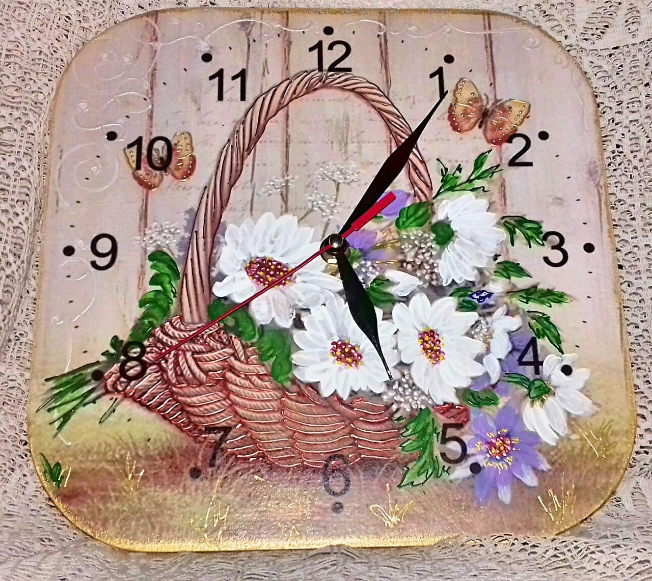 Часы интерьерные с цветами Мечта