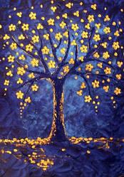 Картина из страз Алмазная мозаика Сказочное дерево (DM-243) 20 х 30 см (Без подрамника)