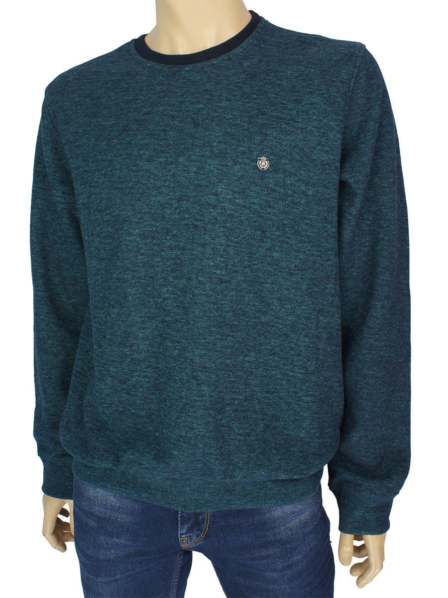 Стильний чоловічий светр Better Life 344 H green в зеленому кольорі