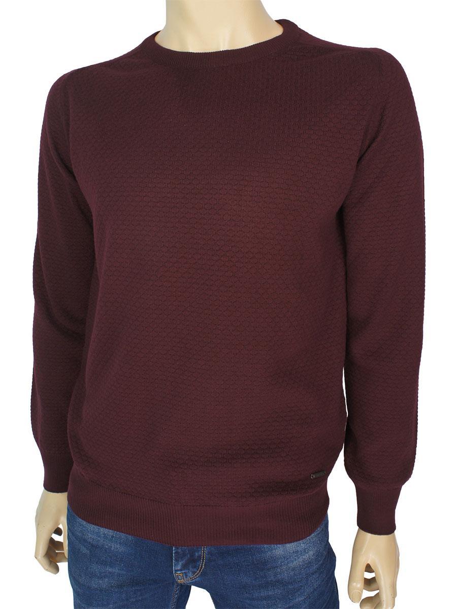 Бордовий светр для чоловіків Better Life 1037 H bordo