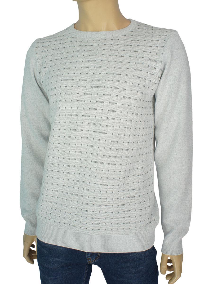 Класичний світлий чоловічий светр Yamak 1101 grey
