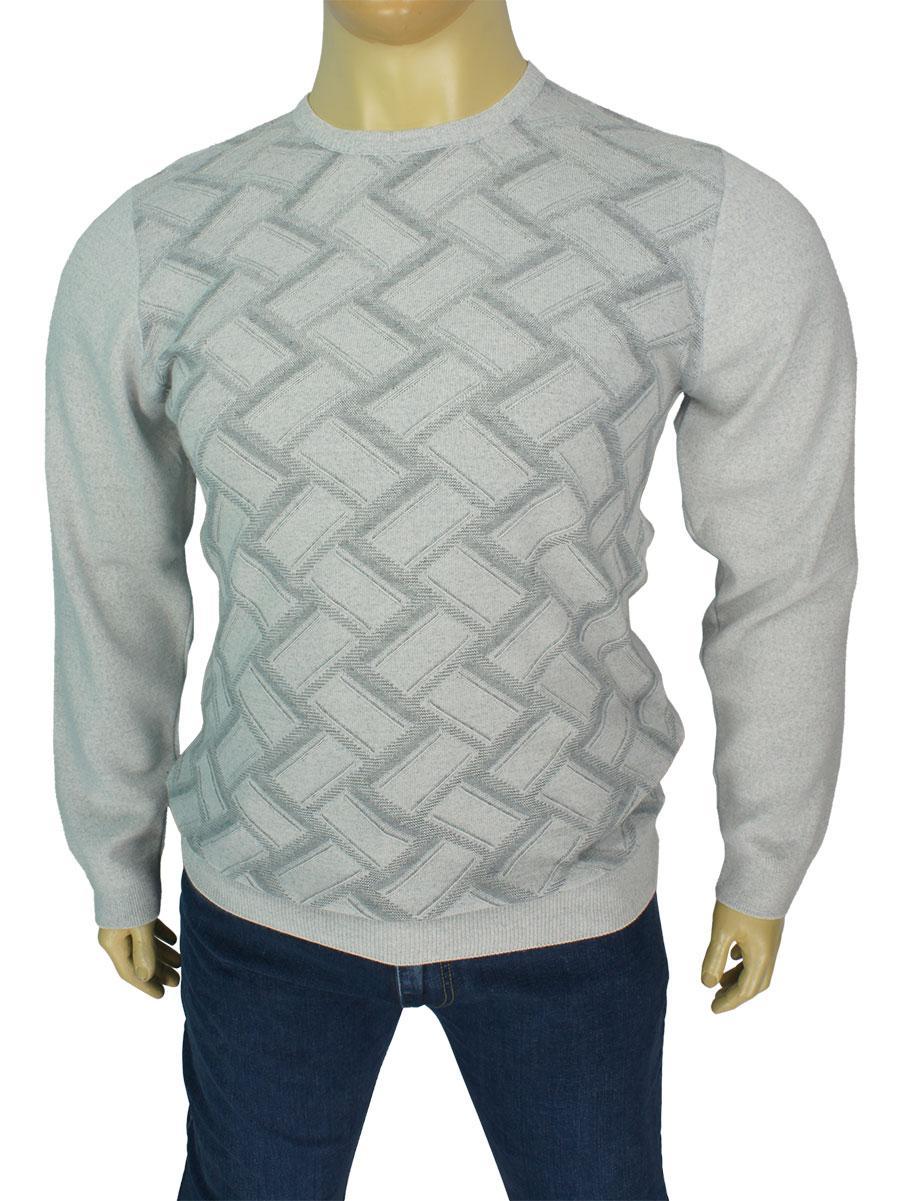 Класичний светр для чоловіків Yamak 1106 B grey великого розміру
