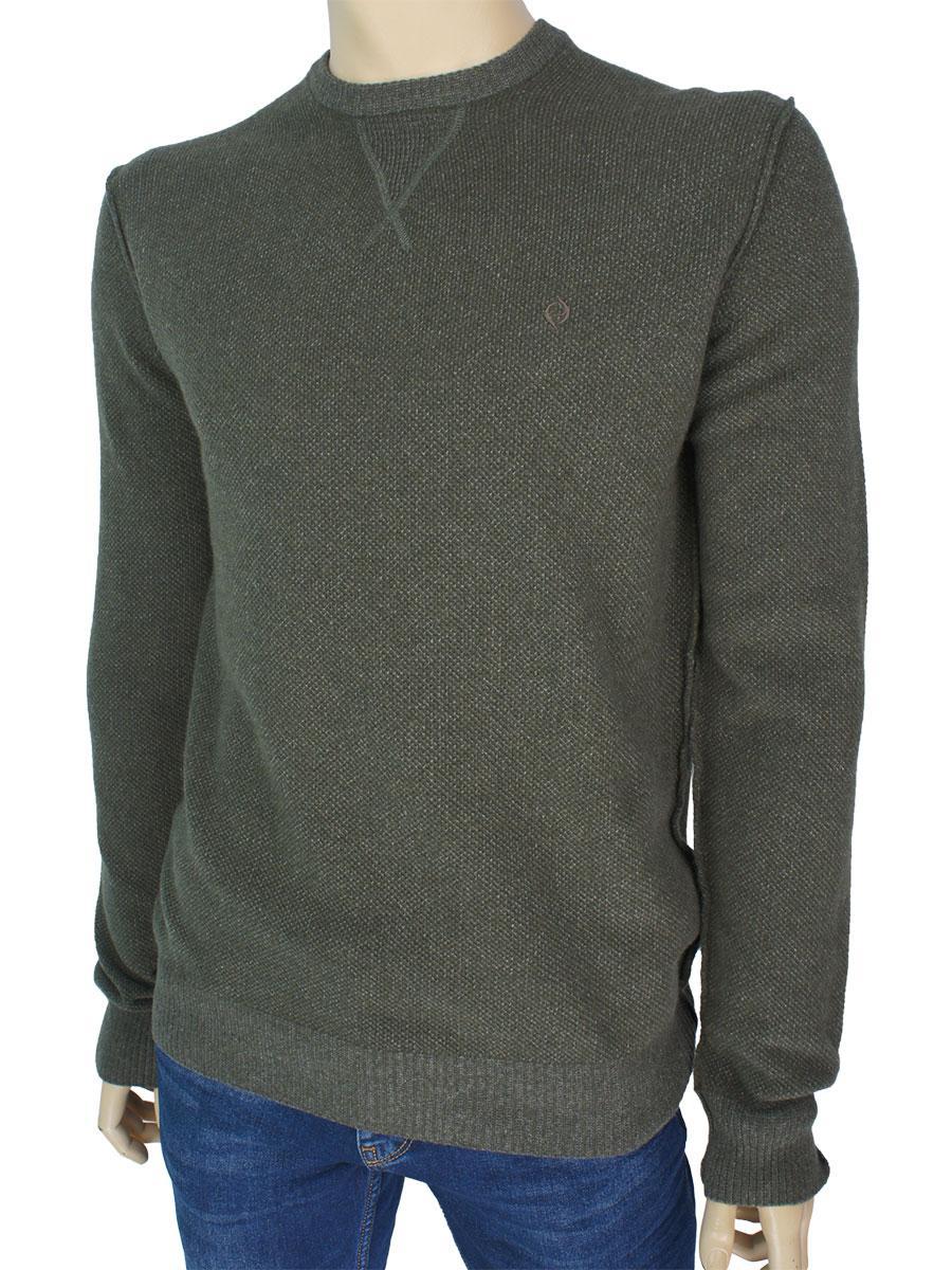 c2f8ddf2e74f4 Демисезонный мужской свитер Fabiani 7307 Haki цвета хаки для ...