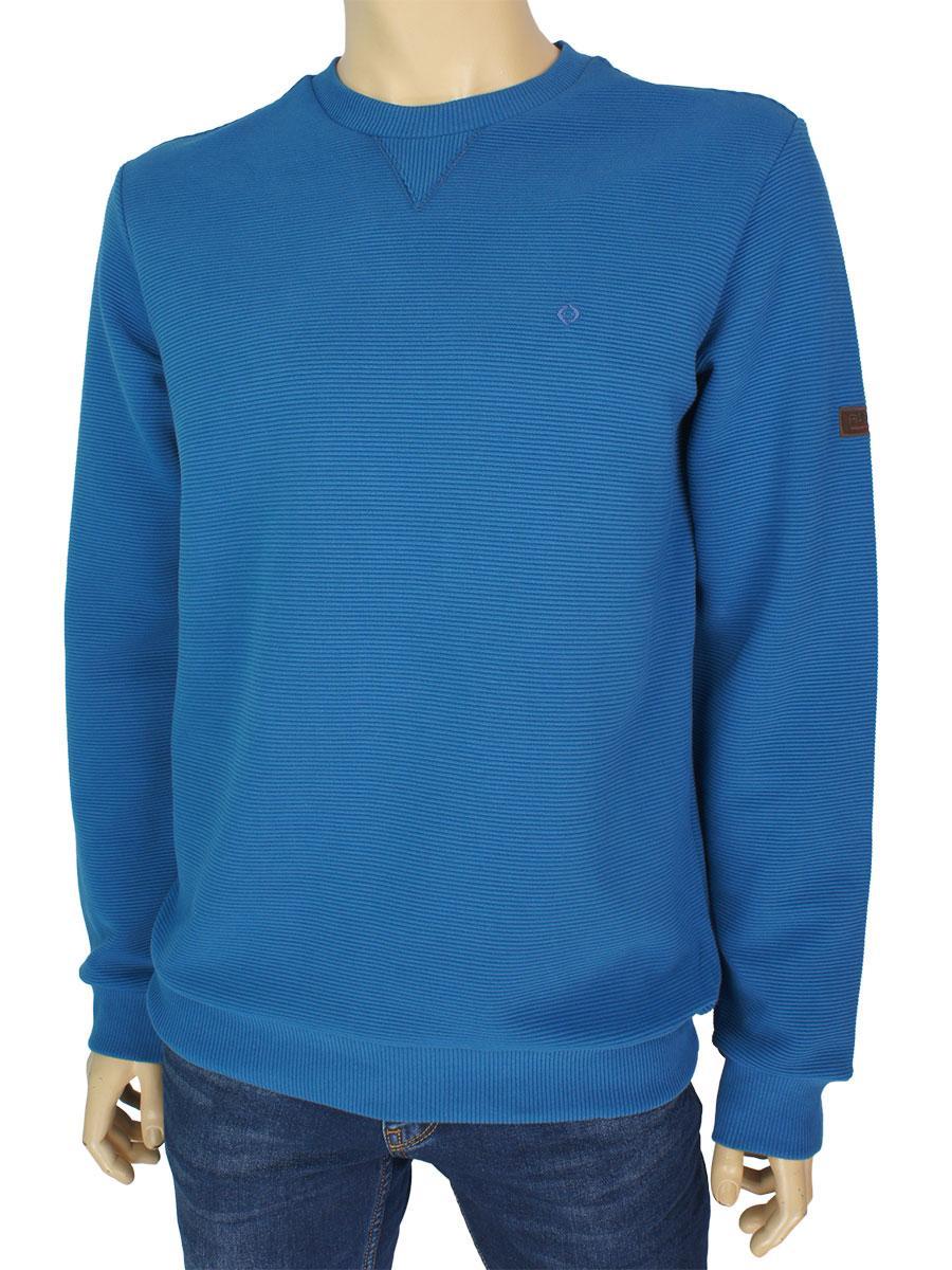 95922950fa3ac Хлопковый ярко-синий свитер Fabiani 22747 Petrol для мужчин для ...