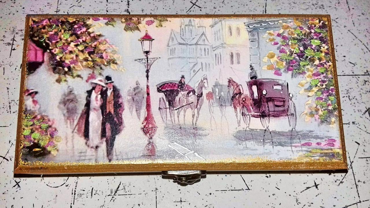 Шкатулка купюрница Париж