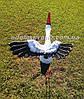 Садовая фигура Аист крылатый на металлических лапах, фото 3