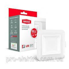 Умный светильник точечный Maxus 9W (1-MAX-01-3-SDL-09-S) (сменные яркость и цвет) квадрат