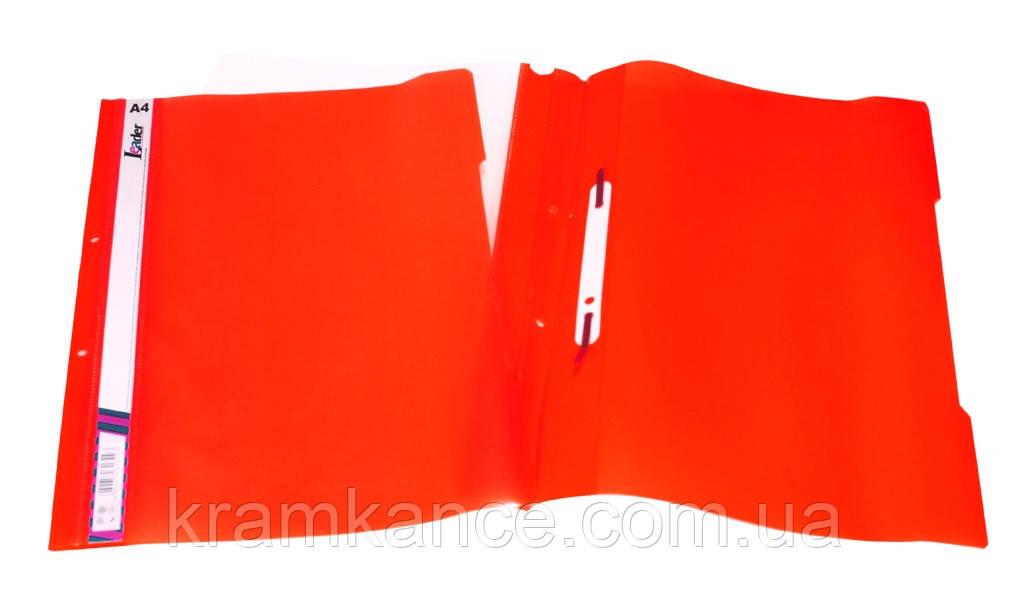 Скоросшиватель пластик. А4 Leader SK320-1 красный