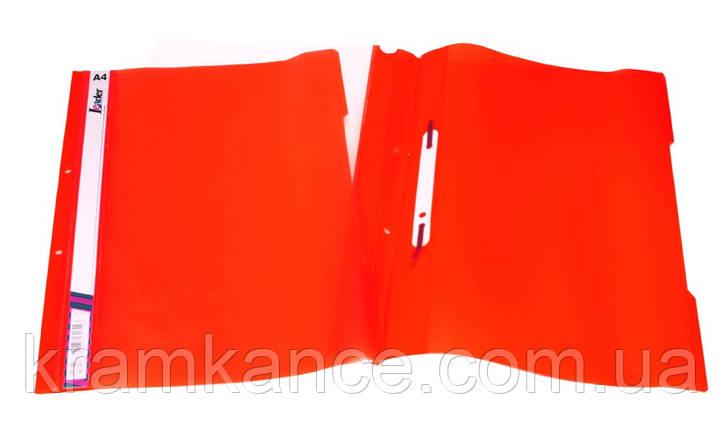 Скоросшиватель пластик. А4 Leader SK320-1 красный, фото 2