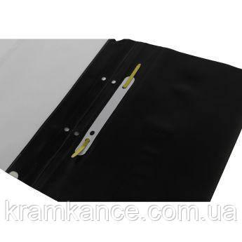 Скоросшиватель пластик. А4 Leader SK320-1 черный, фото 2