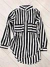 Рубашка свободного кроя в полоску (1 цвет), фото 3