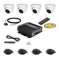 Комплект спостереження Carvision MDVR004/3G/GPS Kit-4x