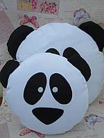 Подушка-смайлик Панда Emoji Smile КОМПЛЕКТ (большая+маленькая) №25