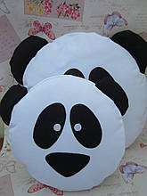 Подушка-смайлик Панда Emoji Smile КОМПЛЕКТ (велика+маленька) №25