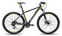 """Велосипед 29"""" PRIDE XC-29 HD рама - 19"""" черно-зеленый матовый 2015"""