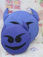 Подушка-смайлик Чертик Emoji Smile КОМПЛЕКТ (большая+маленькая) №23