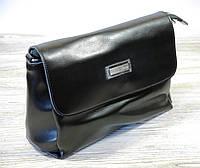 Кожаная черная сумка , фото 1