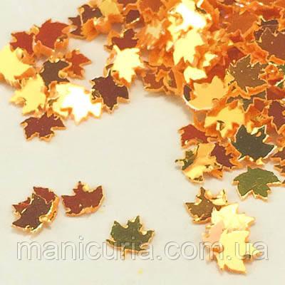 Декор для дизайну нігтів осіннє листя