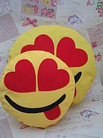 Комплект желтых подушок-смайликов Emoji Smile (большая+маленькая) №9