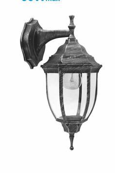 Светильник  парковий (метал/стекло/ант серебро) 60w e27 вниз