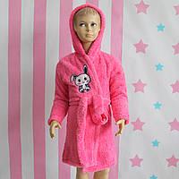 Детский Халат для девочки розовый травка Турция размер 5,6,7,8,9,10,11