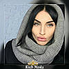 Женский теплый вязаный шарф хомут, фото 4