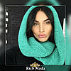 Женский теплый вязаный шарф хомут, фото 5