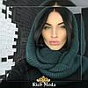 Женский теплый вязаный шарф хомут, фото 6
