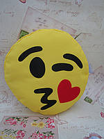 Большая подушка-смайлик Emoji #b-3 Влюбленный моргунчик Smile