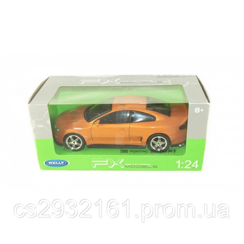 """WELLY   Мет. машина """"PONTIAC GTO RAM AIR 6 2005""""  1:24"""