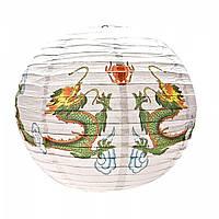 Фонарь бумажный Драконы (d-41 см)