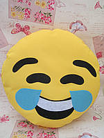 Большая желтая подушка-смайлик Emoji #b-8 Smile