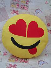 Велика подушка-смайлик Emoji #b-9 Закоханий бешкетник Smile