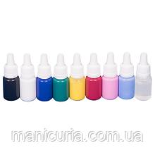 Набор красок для аэрографии JVR Colors, 8 шт*10 мл