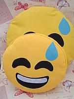 Подушка-смайлик Emoji Smile КОМПЛЕКТ (большая+маленькая) №18