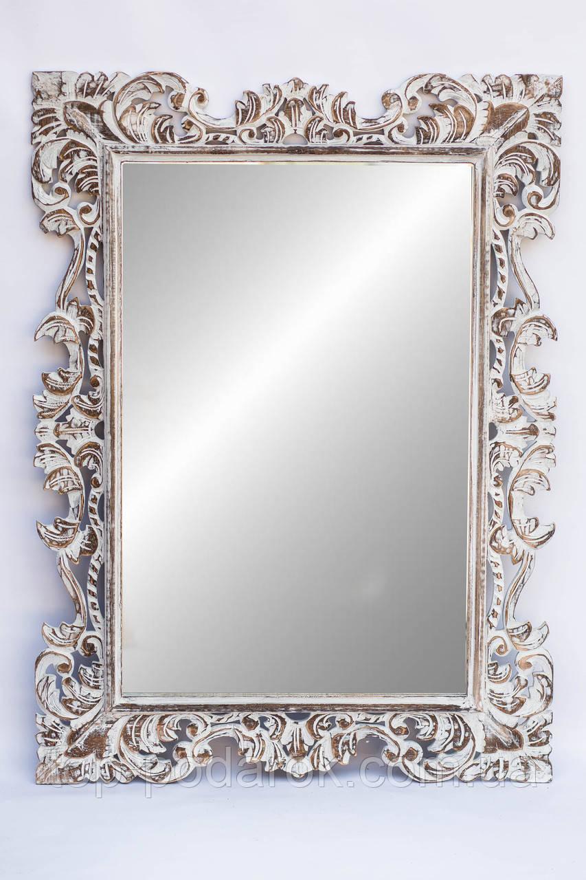 Настенное зеркало в деревянной раме размер 120*80 см