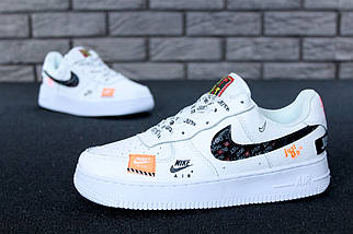 Размер только 44 !!! Мужские кроссовки Nike Air Force 1 Low Just Do It Pack White/ реплика, фото 2