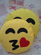 Подушка-смайлик Emoji Smile КОМПЛЕКТ (велика+маленька) №13