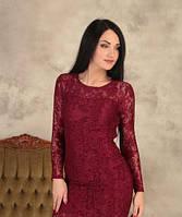 Женское коктельное  платья  кружевное  Люся р.42,44,46, 48